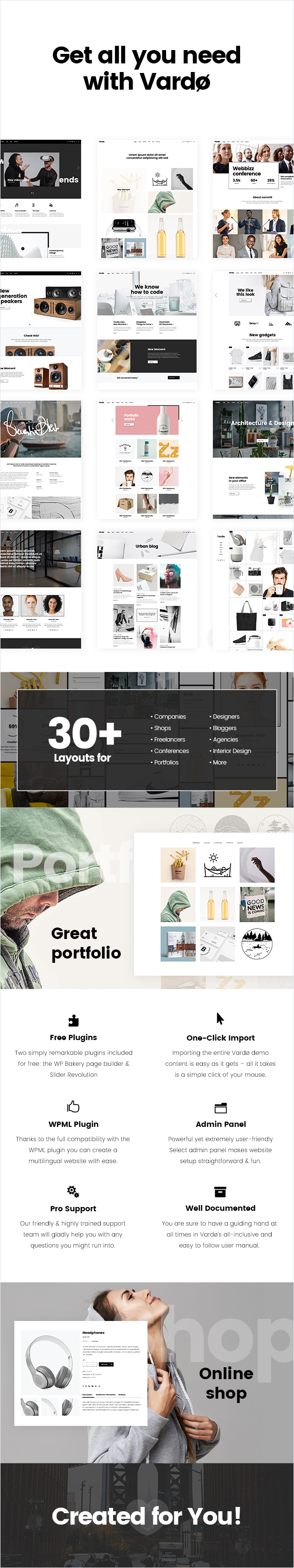 Vardø - Creative Design Portfolio Theme - 1